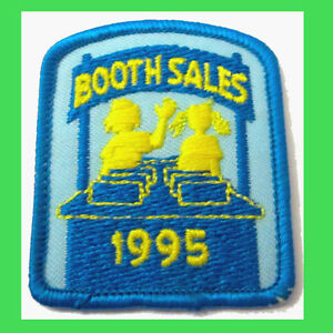 1995 new cookie patch booth sales embroidered 2 girl