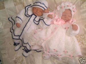CROCHET-PATTERN-LITTLE-STARS-TWIN-BABY-MATINEE-SETS