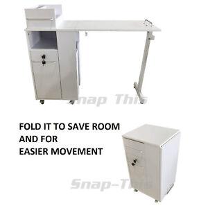 manicura-portatil-movil-PUPITRE-Mesa-Salon-Tecnico-Estacion-de-trabajo-blanco