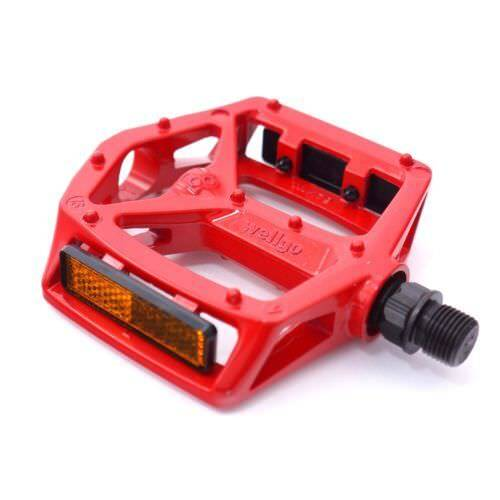 WELLGO MG-3 Fixed Pin 9//16/'/' Bike Pedals for MTB BMX DH Platform DU Bearing
