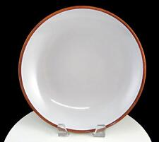 "KMK KUPFERMUHLE CERAMICS OFF WHITE BROWN TRIM ROUND COUPE 9 3/4"" VEGETABLE BOWL"