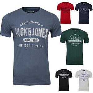 JACK & JONES Herren T-Shirt Custom Tee Regular Fit Crew Neck Logo Print