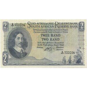 1962-65 South Africa 2 Rand ND -Pick # 105b - Very Nice Choice AU!-d899sut2