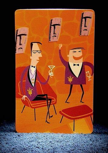 "Josh Agle Postcard Style Art MINT SHAG Rare 2004 /""DEEP PACIFIC/"" Tiki Drink Card"