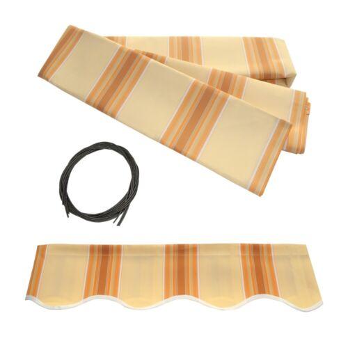 Aleko tissu remplacement pour 12x10 FT Rétractable Auvent Multistripe jaune