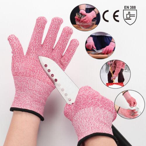 Cut Resistant Gloves Safety Handwork Kitchen Cutting Butcher Level 5 Protective