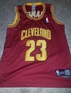 uk availability b6858 7ef84 Details about Rare LeBron James NBA authentic jersey Cleveland Cavaliers  Cavs 23 size 44 sewn