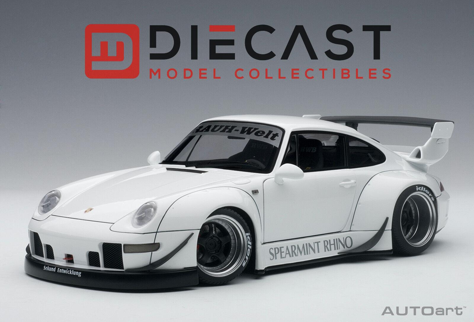 Autoart 78150 Porsche Rwb 993 (Weiß   Waffe Grau Räder) 1  18TH Maßstab