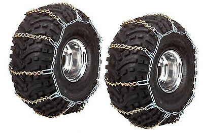 ATV FRONT Tire Chains - Polaris Sportsman 500 HO 2006 2007 2008 2009 2010 - Pair