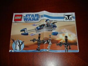 FidèLe Lego Star Wars 8015 Assassin Droids Battle Manuel D'instruction-afficher Le Titre D'origine Finement Traité