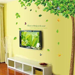Large Green Tree Beautiful Jungle Wall Decals Wall Sticker ...
