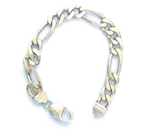 Details about  /Sterling Silver 9mm Solid Round Cable 8 inch Bracelet 34.40 grams Stamped 925