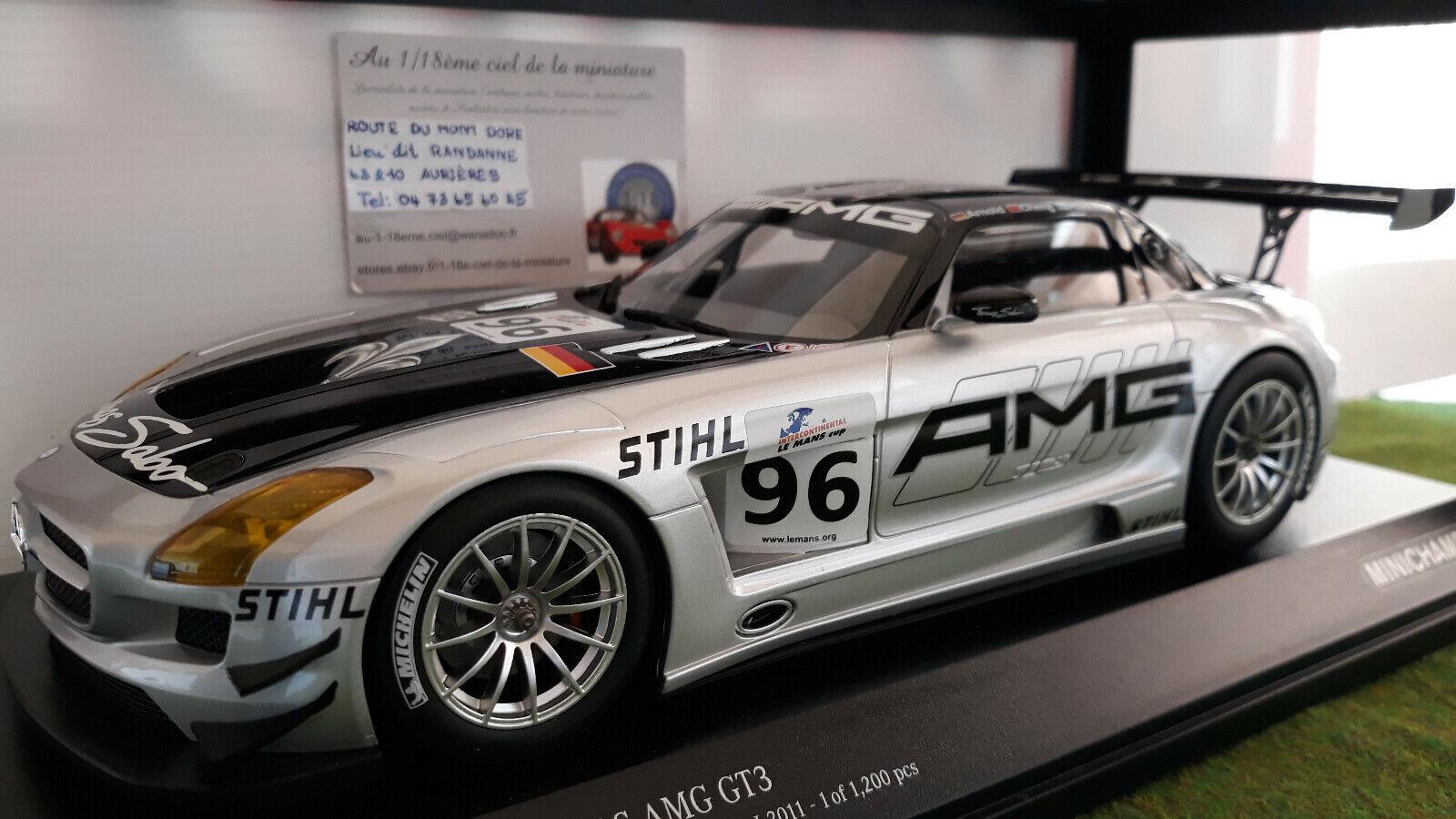 MERCEDES-BENZ SLS AMG  GT3 HAKKINEN o 1 18 MINICHAMPS 151113196 voiture miniature  plus d'ordre