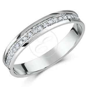 9ct-White-Gold-Diamond-Eternity-Ring-0-15ct-Quarter-Carat-Third-Carat-Half-Carat