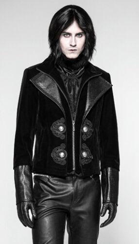 Velours Homme Baroque Transformable Punkrave Cuir Manteau Veste Gothique Gravé ZYq7ww8px