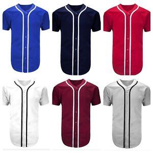 ce82da48 Men's Baseball Jersey Raglan T- Shirt Team Sports Button Fashion ...