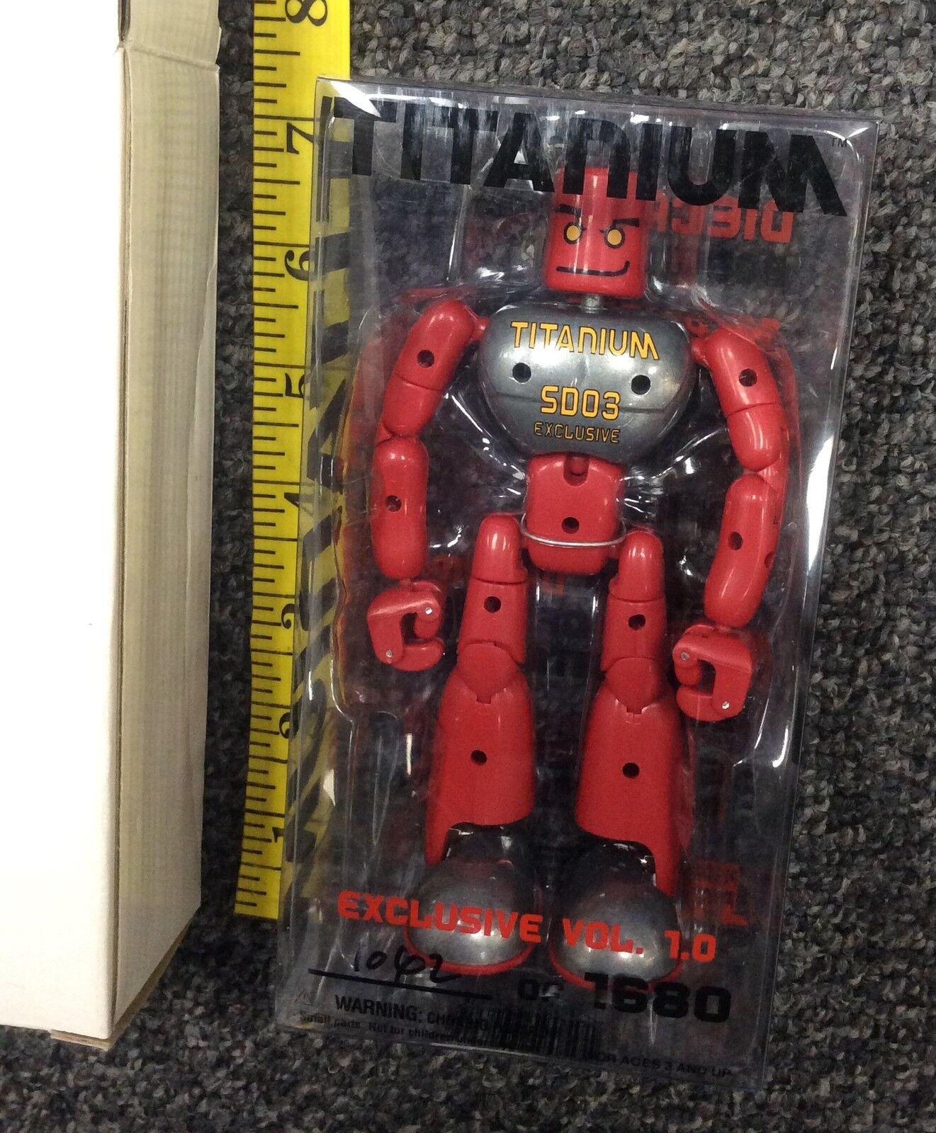 2003 Playmind Toys SDCC 2003 Exclusive Titanium Vol. 1.0  1062 of 1680 NIB VHTF