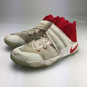 7c116a0e336f Nike Kyrie 2 GS Touch Factor Boys Shoes White   Red 826673-166 Size ...