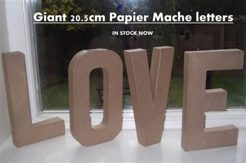 Papier Paper Mache Large /& Small Letters Numbers 20.5cm /& 10cm Cardboard Craft