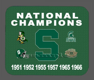 Details About Item 1368 Michigan State Football Championship Banner Mouse Pad