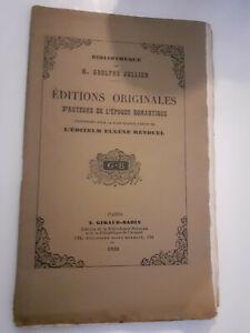 A.Jullien Edizioni Originali Autori Periodo Romantico 1933 Giraud-Badin Parigi