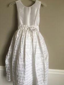 Details about Flower Girl/ First Communion Dress Size 12 Plus. White