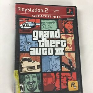 Grand Theft Auto III Sony PlayStation 2 PS2 GTA 3 Game with Manual and Map
