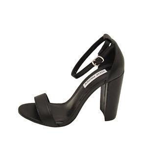 8f3d6721ec5 Steve Madden Carrson Black Leather Women s Open Toe Block Heel ...
