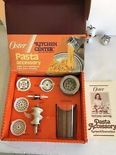Oster Regency Kitchen Center Pasta Maker Accessory set 939-65 Food processor NEW