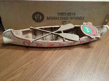 "NIB Mint Saranac Canoe Paddle Oar 12"" Beer Keg Tap Handle Knobs"