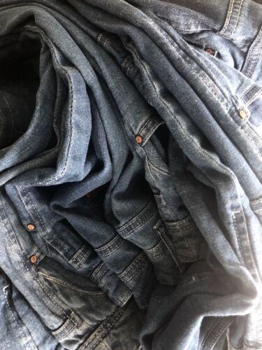 PLUS SIZE Donna Blu Denim Jeans Gamba Dritta 16 18 20 22 24 26 28 30 32