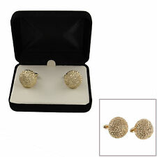 Anson Cufflinks Mens Vintage Gold Tone Shiny Nugget Button Boxed