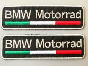 PATCH-BMW-MOTORRAD-TRICOLORE-N-2-RICAMATA-TERMOADESIVA-CM-10X3-COD-303