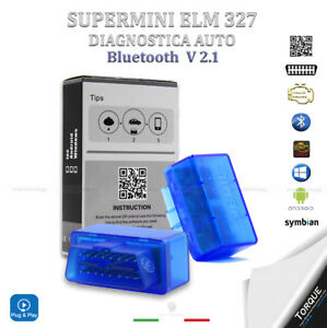 MINI ELM 327 OBDII V2.1 DIAGNOSI AUTO INTERFACCIA BLUETOOTH OBD2 CANBUS ANDROID