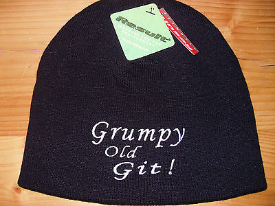 GRUMPY OLD GIT Quality Beanie gifts for men Retirement gift Fathers Day present