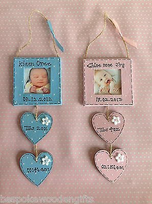 Personalised Newborn Boy/Girl Photo Frame Baby Shower Keepsake Present Gift