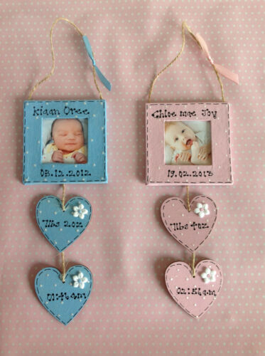 Personalised Newborn Boy/Girl Photo Frame Baby Shower Keepsake Present Gift