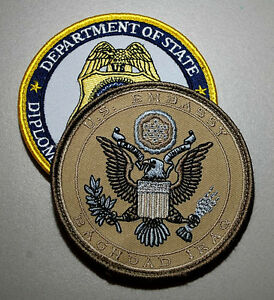 Details about OSAC STATE DEPARTMENT DIPLOMATIC SECURITY US EMBASSY BAGHDAD  IRAQ INSIGNIA SET