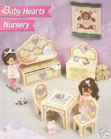 Plastic Canvas Fashion Doll Pattern Baby Hearts Nursery Furniture