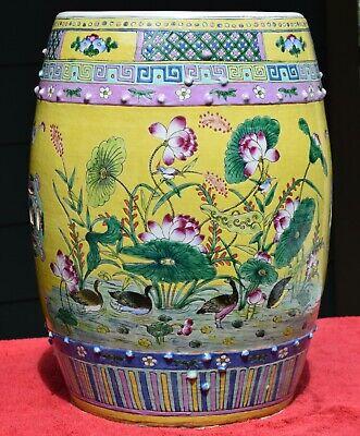Chinese Straits Porcelain Garden Stool, Porcelain Garden Stools Chinese