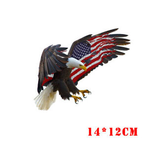 1x-Cool-Bald-Eagle-USA-American-Flag-Sticker-Car-Truck-Window-Bumper-Decoration