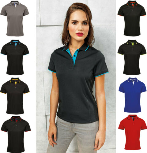 Moisture Wicking Fabric Smart Office Business Casual Ladies Womens Polo Shirt