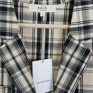 EDIT-By-LEE-MATHEWS-Womens-Check-Jacket-NEW-279-Size-2-or-AU-10-US-6