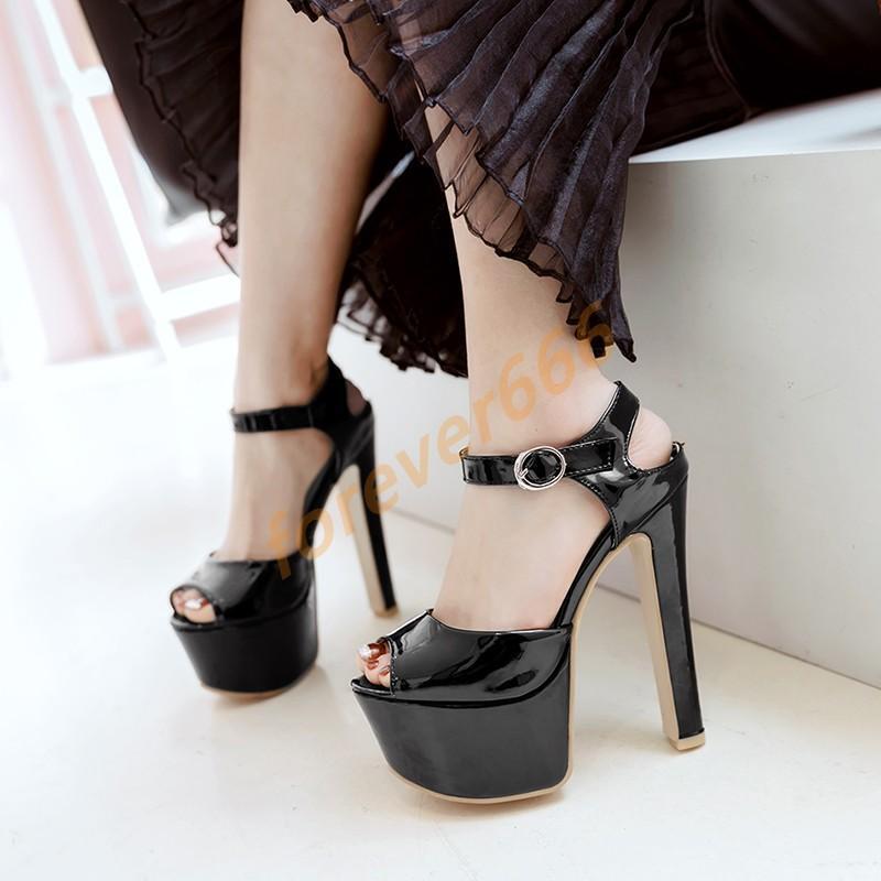 Platform Danmen gr.30-48 toe High heels Peep toe gr.30-48 Schalle Pumps Sommer Sandalen a00d06