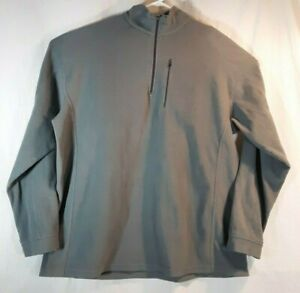 LL-Bean-Fleece-Sweatshirt-Jacket-Pullover-Men-039-s-XXL-Tall-1-4-Zip-Gray