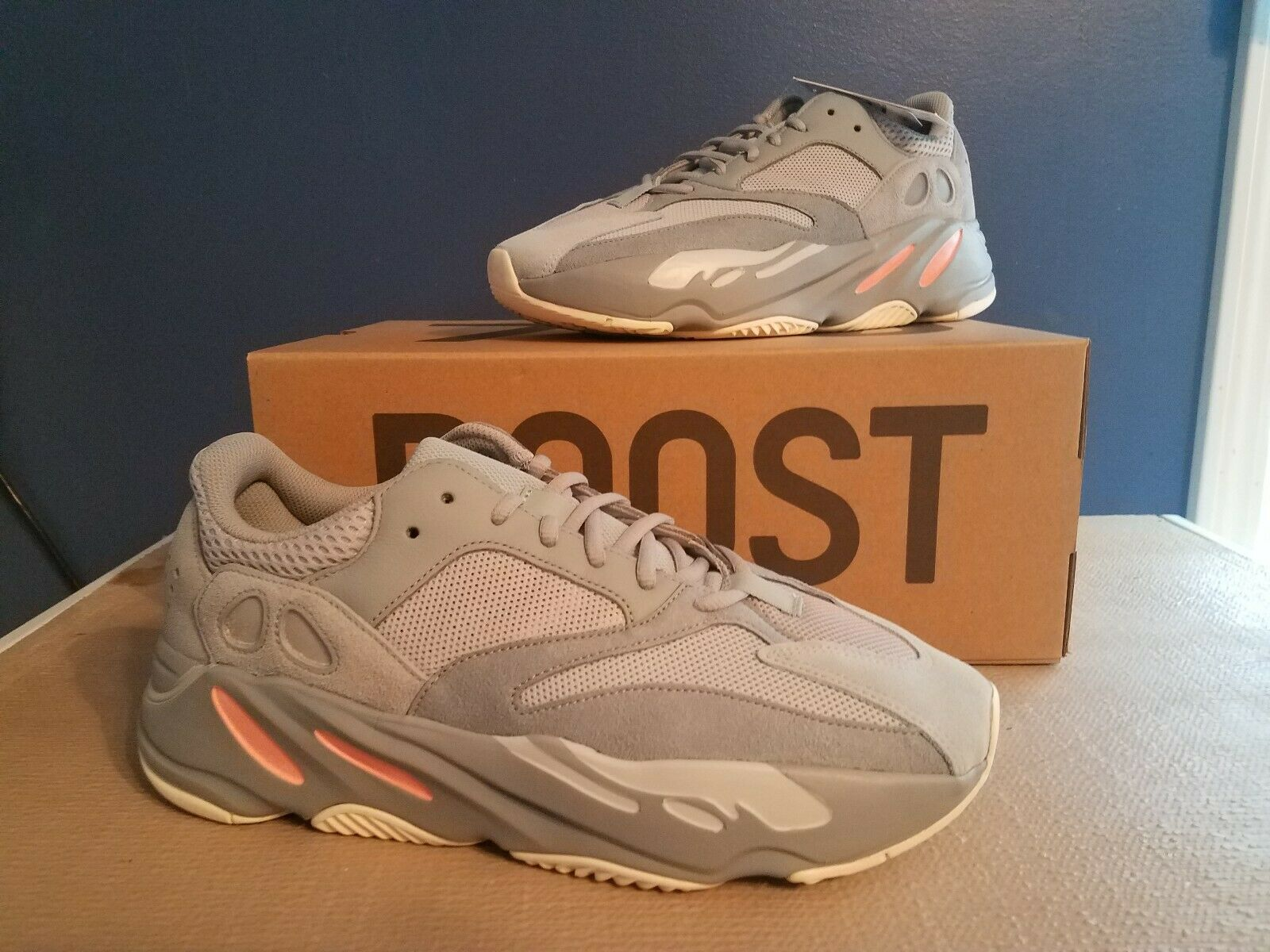 Adidas Yeezy Boost 700 Inertia Size 10.5 In Hand Ready to Ship Proof of Receipt