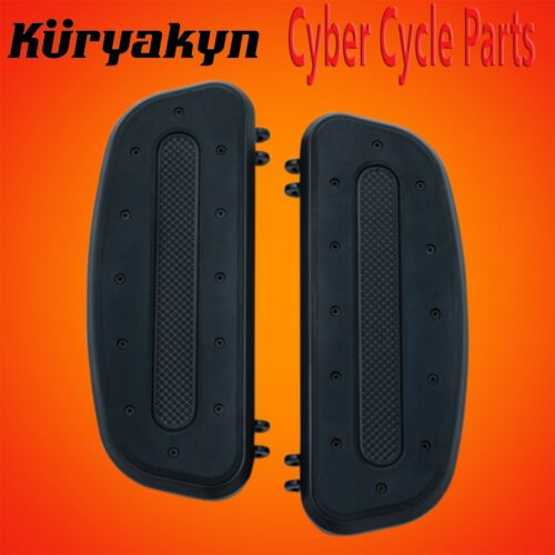 Kuryakyn Satin Black Heavy Industry Driver Floorboards 7042