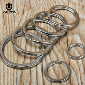 Solid Brass Split Rings Double Loop Key Ring 15-38mm DIY Leather Craft Hardware