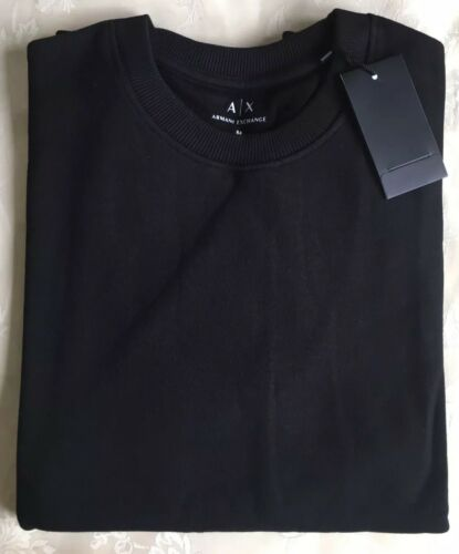 Size small Jumper Black Long Men's sweater Crew Neck Armani Exchange Sleeve P76Tg7