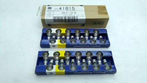 *24 PCS* GENERAL ELECTRIC GE indicator lamp light bulb clear 120v  4w 3S6//5 1//24